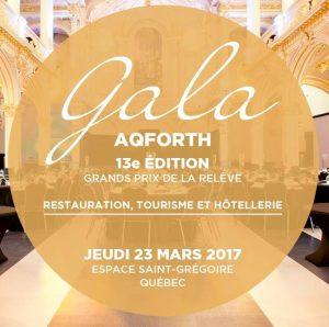 13e Gala des Grands Prix, le 23 mars 2017 à l'Espace Saint-Grégoire, Québec